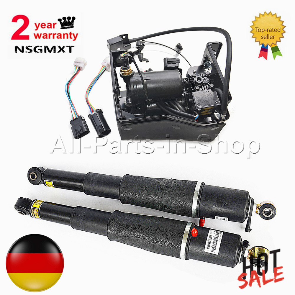 Pair Air Suspension shocks+Compressor Pump For Cadillac Escalade/Chevrolet Avalanche Suburban Tahoe/GMC Yukon 15869656,19300040 r4 ac compressor for car chevrolet s10 blazer caprice pick up truck suburban tahoe gmc jimmy sonoma fleetwood 15 20189 88964862