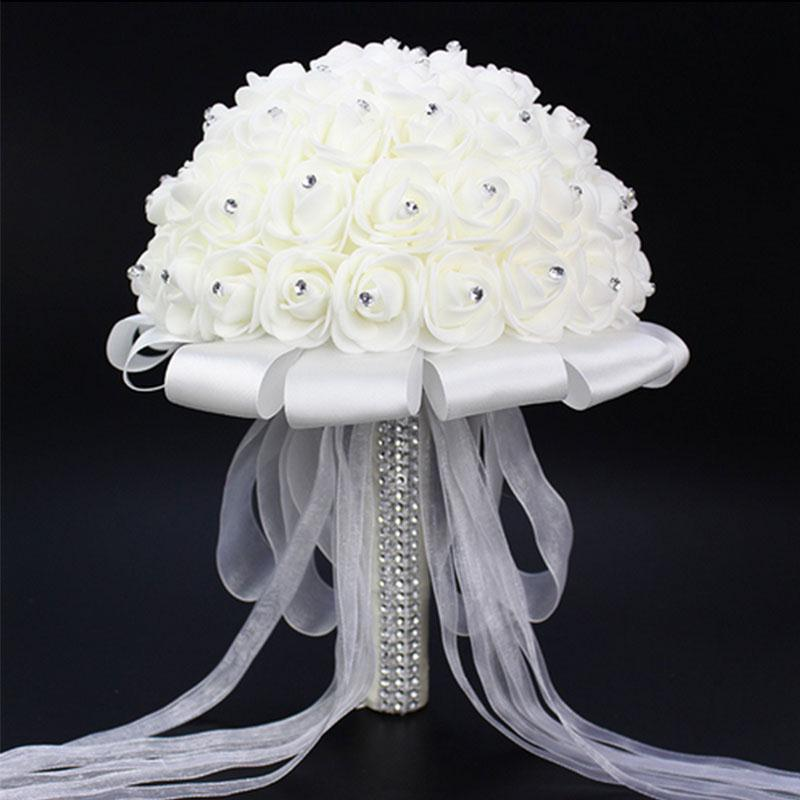 Elegante Ramo de novia Accesorios Bridesmaid Artifical Flower Party - Para fiestas y celebraciones - foto 1