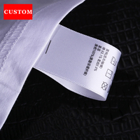 Factory Customized Garment Washing Label White Cotton Clothing Printed Personalized Shoes Labels Handmad Private Label Handmade
