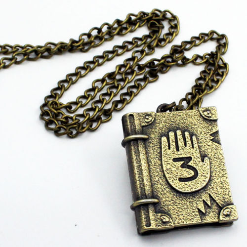 1PCS Cool Gravity Falls Journal Number 3 Necklace Pendant Cosplay Costume