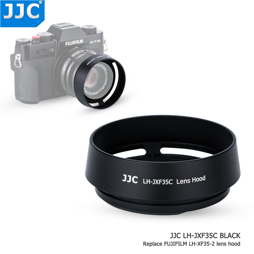 JJC Bayonet Round Camera Lens Hood 43mm Thread Size Replaces Fujifilm LH-XF35-2 for FUJINON LENS XF35mm/25mm F2 R WR jjc bayonet lens hood 58mm protector for olympus m zuiko digital ed 40 150mm 1 4 0 5 6 r 1 4 0 5 6 replaces lh 61d camera