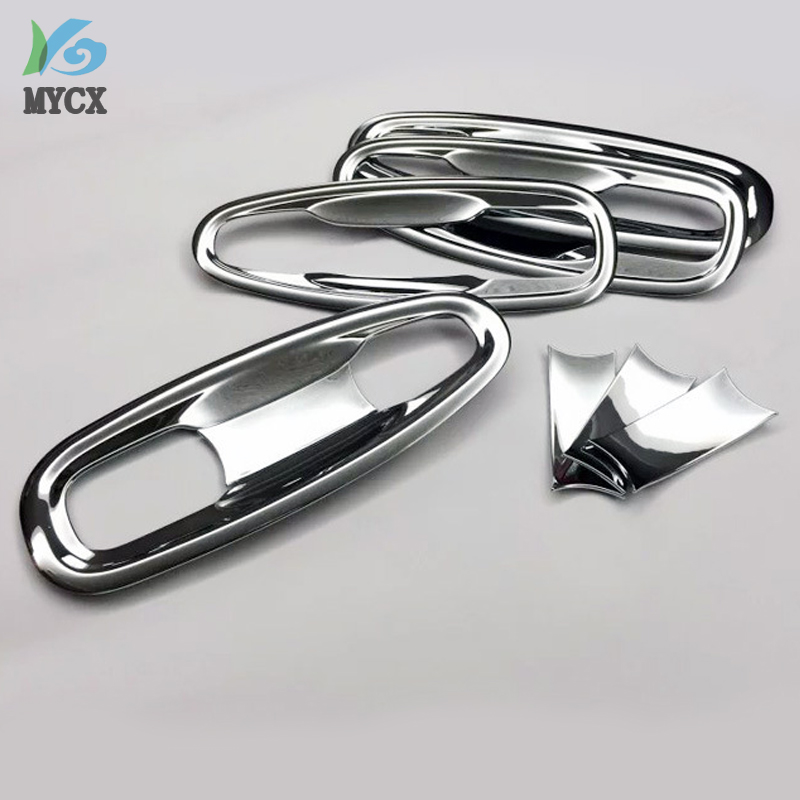 For toyota Land Cruiser Prado FJ 150 150 accessories ABS chrome door handle insert bowl molding trim fit prado fj150 2010 2017 in Bumpers from Automobiles Motorcycles