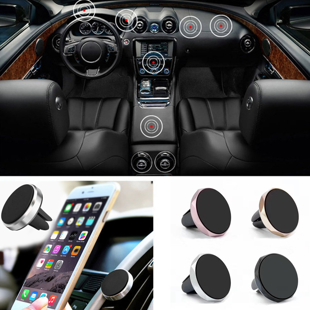ZUCZUG Universal Car Phone Holder Magnetic Air Vent Mount Stand 360 Rotation Mobile Phone Holder for iPhone 7 5s 6 Plus Samsung