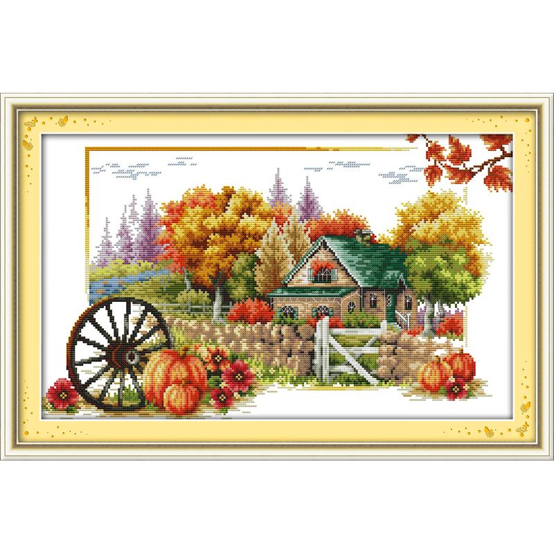 Everlasting Love Soul of autumn Ecological cotton chinese Cross Stitch kits 11CT stamped DIY gift new year decorations for home
