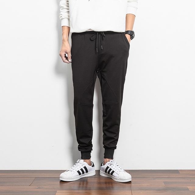 Men Trousers Joggers Fashion Style Pockets streetwear hiphop Solid Casual Pants Cotton Loose Harem Pants Yeezy Boost Sweatpant