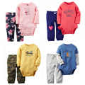 Baby Boy Girl 2 pieces clothing set for Autumn and Spring Bebes soft Cotton Long Sleeve Bodysuit Pants Suits Infant Sets