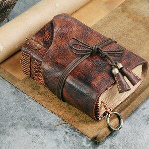 Image 2 - 100% echtem Leder Handgemachte A4 A5 A6 Vintage Retro Reise Journal Tagebuch Notebook Notizblock Geburtstag Valentinstag Geschenk BJB26