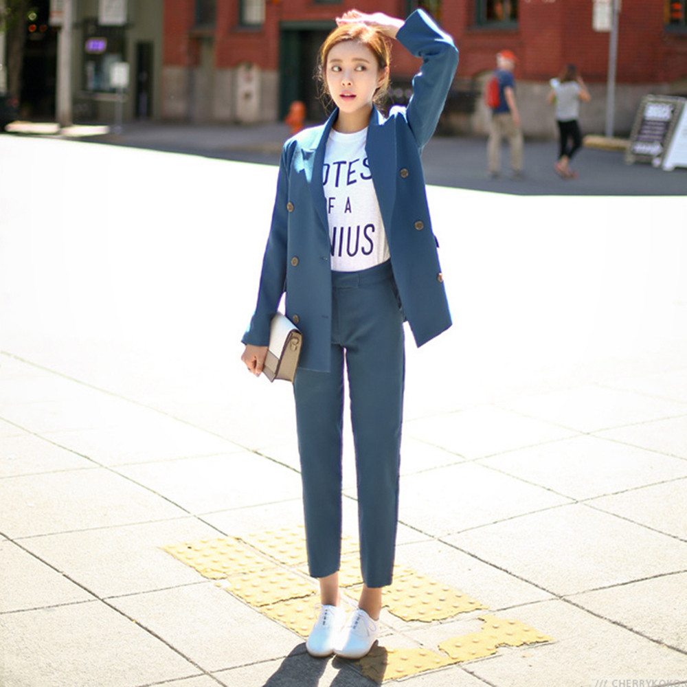 2016-Fashion-Slim-Business-Wear-Elegant-Women-Office-OL-Jacket-Set-Formal-Blazer-Pants-Suit-Feminino (4)