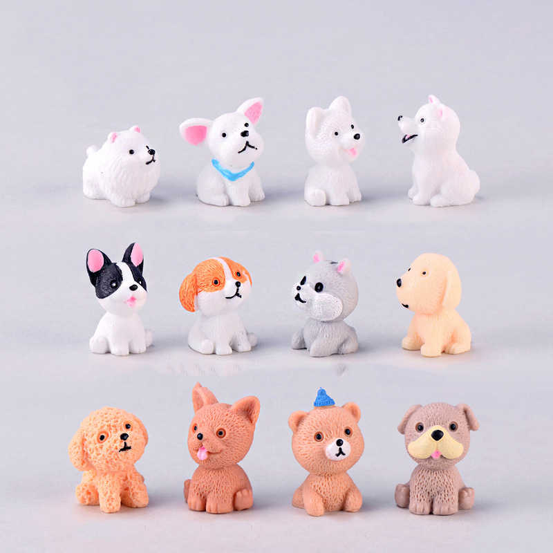 mini resin dog modern miniature home desk decor decoration accessories fairy garden  figurines feng shui animals christmas