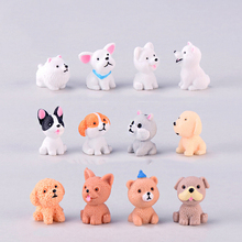 mini resin dog modern miniature home desk decor decoration a