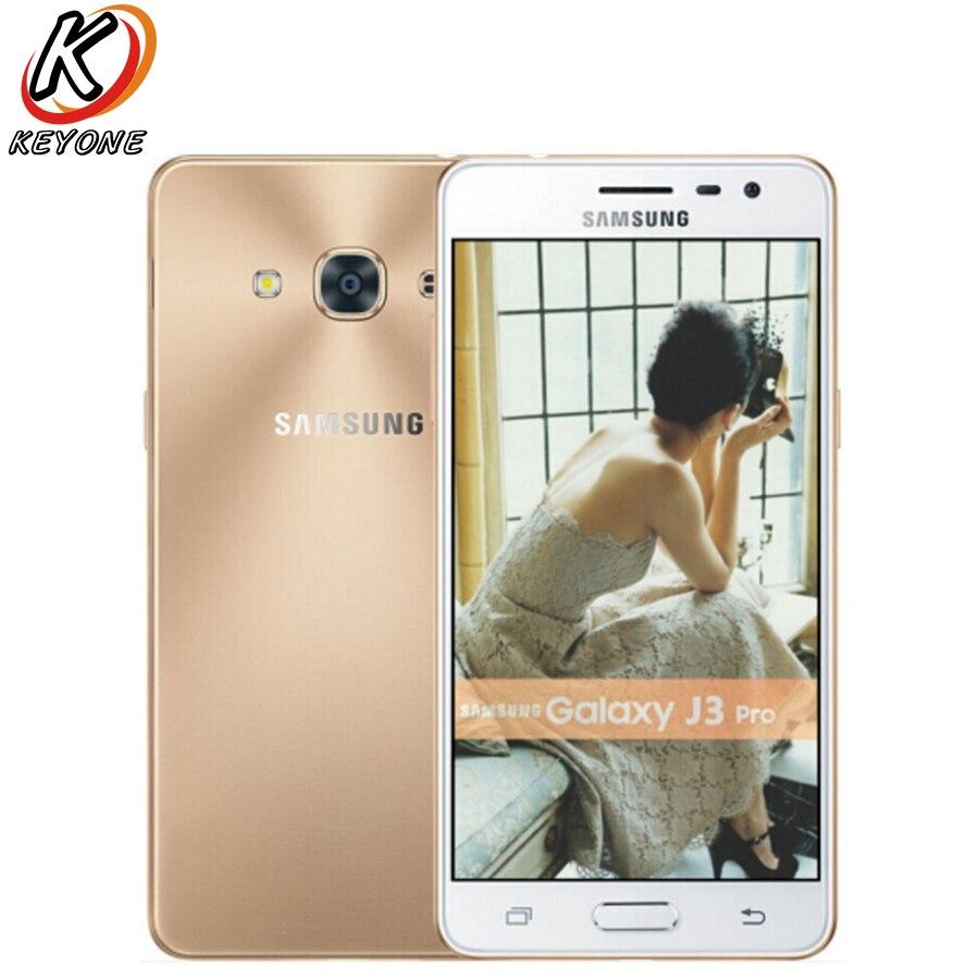 Новый оригинальный Samsung Galaxy J3 Pro J3119 мобильный телефон 5.0 дюймов 2 ГБ Операти ...
