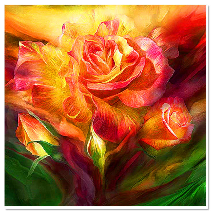 2017 direct selling diamond embroidery rose europe full square resin particle mosaic plants home decor wall art painting