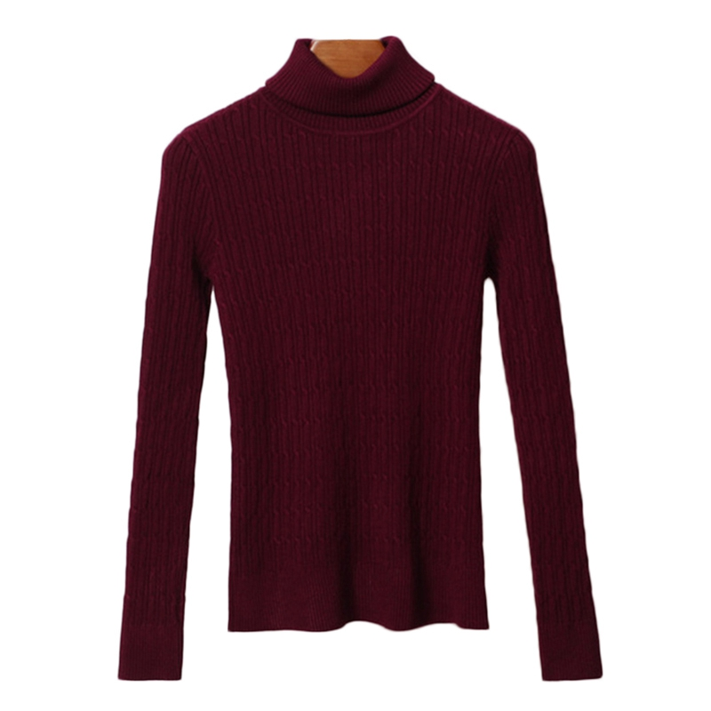 Hot Thick Turtleneck Warm Women Sweater Thick Warm Women Sweater Autumn Winter Women Pullovers Knitted Elasticity Casual Sweater