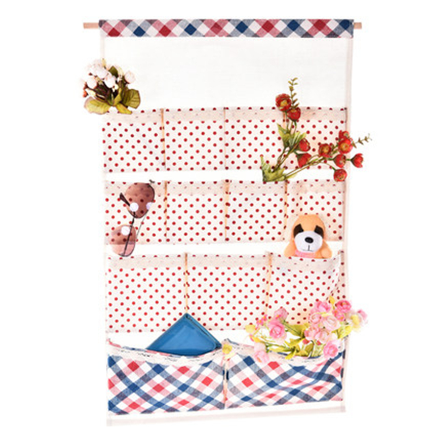 Closet Wall Hanging Organizer Pockets Shelf Hangers For Bags Canvas Wall  Clothes Storage Hanging Organizer DDI07