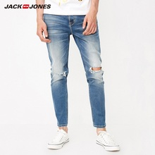 JackJones ผู้ชาย Skinny Ripped กางเกงยีนส์กางเกงยีนส์กางเกง streetwear 218332573
