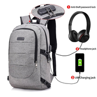 Anti Theft Backpack for Men with Usb Charging Laptop Bagpack Male Bag Back Casual College Back Pack Women BackBag Password Lock