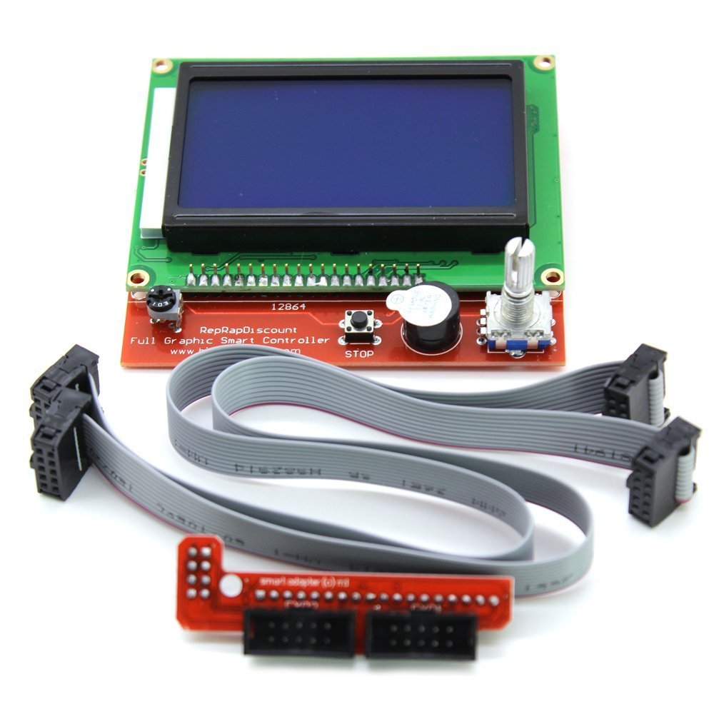 12864 Lcd Graphic Smart Display Controller Module With Connector Cnc 40pcs Jumper Cable Kabel 30cm Male To Female Dupont For Breadboard Adapter Ramps 14 3d Printer Kit Mega 2560 R3 In Integrated Circuits From