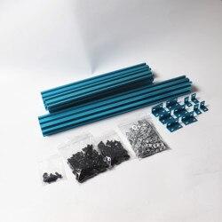 Kolorowe AM8 3D drukarki profil wytłaczany rama metalowa pełny zestaw dla Anet A8 aktualizacji (anodowany po cięcia) w Części i akcesoria do drukarek 3D od Komputer i biuro na