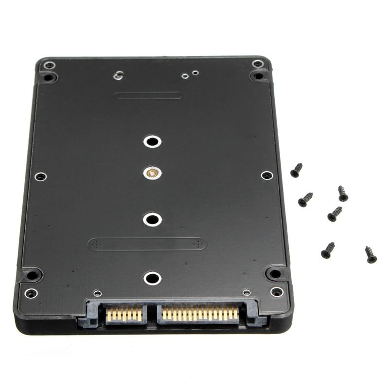 Converter Adapter Case B Key Socket 2 M.2 NGFF (SATA) SSD to 2.5 SATA Adapter Card Adapter with Black Case шасси orient uhd 2m2c9 для ssd m 2 ngff для установки в sata отсек оптического привода ноутбука 9 5 мм 30346