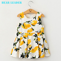 Bear Leader Girls Dress 2016 New Summer Style Girls Clothes Big Yellow Fruit Printed Vest Dress Of The Girls Kids Clothes Dress