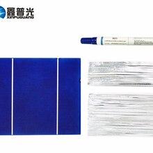 Xinpuguang 100 Вт DIY комплекты солнечных панелей 30 шт. 156*130 мм Поликристаллический солнечный элемент флюс ручка+ таб провод+ автобусный провод для солнечной панели