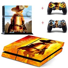 Puss In Boot ps4 controle Stickers Vinyl Decal sticker voor Sony PS4 Play Station 4 sticker decal controller Skin voor PS4 console(China)