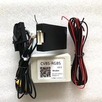 RNS510 Camera in input adapter RGB to CVBS AV Rear View Adapter RVC RCA Converter RCD510 Decoder