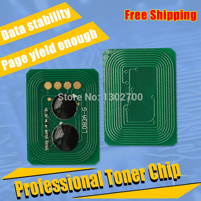 Replace 44844616 44844615 44844614 44844613 Toner Cartridge reset chip For OKI C822 data C 822 color laser printer toner Refill