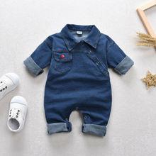 Jacket Outfits Jumpsuit Kids Denim Romper Wear Children's-Set Newborn Baby-Boy-Girl Full-Sleeve