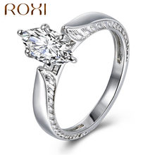ROXI Wedding Rings for Women Silver Color Jewelry Luxury Rings Party Marquise AAA Zirconia Accessories CZ Stone anillos mujer(China)