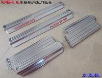 Edelstahl einstiegsleisten einstiegleisten einstiegsleiste willkommen pedal Für Mitsubishi Pajero Sport 2010 2014 Auto zubehör 4 stücke