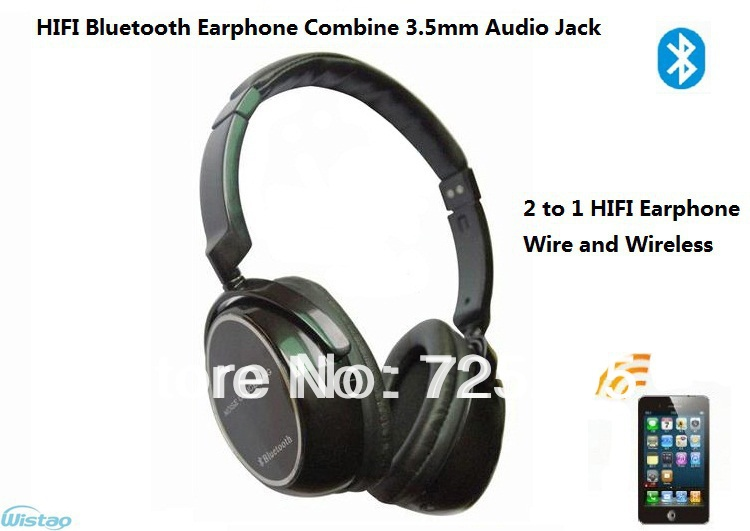 Free Shipping HIFI Bluetooth Earphone Stereo Headset 3 5mm