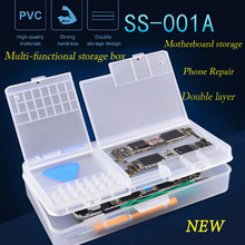 SUNSHINE SS-001A Mobile Phone LCD Screen Mainboard IC Parts Repair Multi-function Storage Box(China)