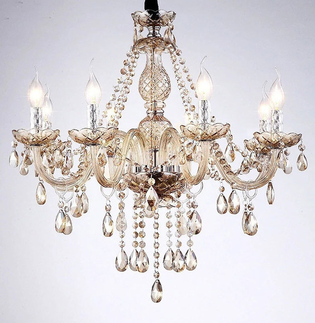 Us 95 67 33 Off Cristal Dekoration Tiffany Kronleuchter Candal Licht Mode Kristall Esszimmer Kronleuchter Luster De Cristal Innen Lampe In Cristal
