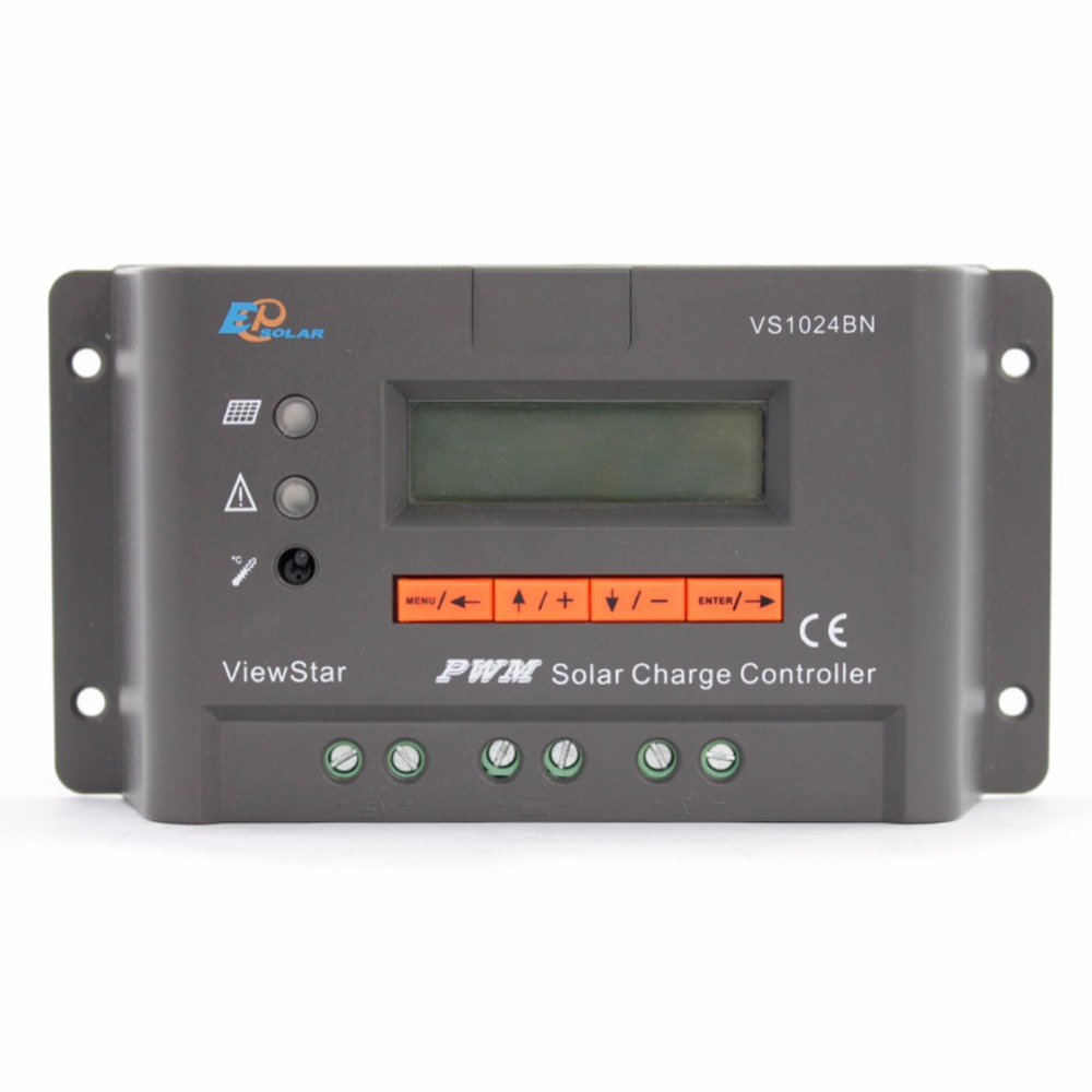 EPSOLAR 10A View Star VS1024BN 12V 24V Auto EP PWM Solar Charge Controller LCD Display Free Shipping