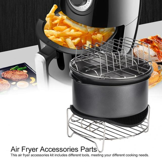 7Pcs/Set Barbecue Air Fryer Accessories Set Kit Parts Home Kitchen Tool for 3.6L Air Fryer 1