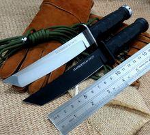 Новейшие САН-MAI RECON ТАНТО Холодное Фиксированные Ножи D2 Блейд ABS Ручка Шлифовальную Открытый Нож Выживания