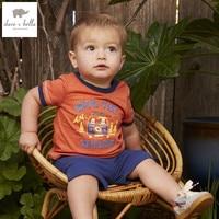 DB4598 dave bella summer baby boys clothing set kids orange sets childs infant clothes children sets costumes child cool suit