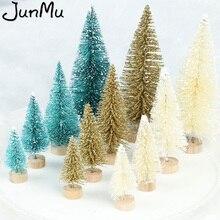 4 шт., Рождественская мини-елка из сизалевого волокна, 3 цвета, снежный мороз, маленькая сосна, сделай сам, украшение для рабочего стола, рождественские украшения