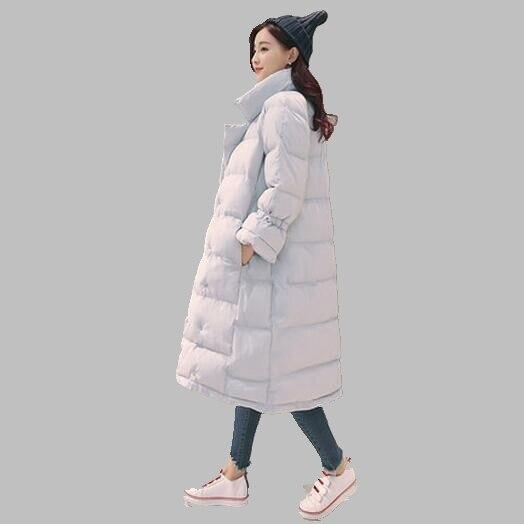 Women winter coat 2017 new Korean medium length down jacket large size casual fashion cotton coat
