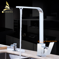 Free Shipping Polished Black Brass Swivel Kitchen Sinks Faucet 360 Degree Rotating Kitchen Mixer Tap GYD