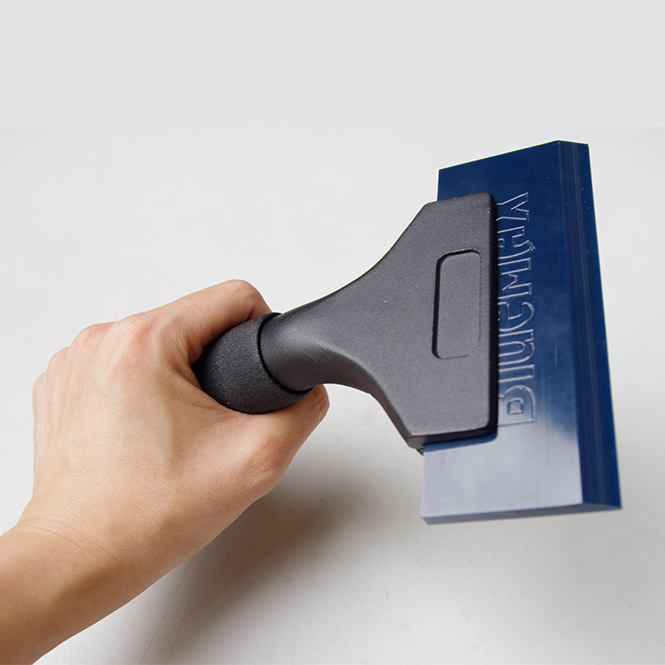 High Quality Imported Pro Power Squeegee Aluminum Handle Dichotomanthes Scraper With Blue Max Rubber Blades Mx Qh02b