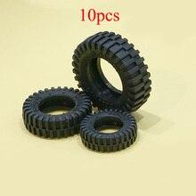 10PCS Simulation Tires Diameter 10/20/24/32/40/50mm Black Mi
