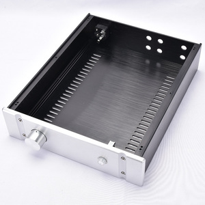 Image 4 - KYYSLB 260*70*311MM DIY Box 2607B All Aluminum Amplifier Chassis Case Preamplifier Chassis Amp Enclosure Housing with Louvers