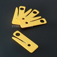 2Pcs Seatbelt Cutter Seat Belt Cutter Safety Knife Yellow Outdoor Survival Rescue Kit