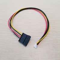 10pcs/lot PH 2.0mm 4Pin Small Type to 15Pin HDD SATA Power Supply Cable Cord 18AWG Wire For Industrial all in one PC & HD PC & M