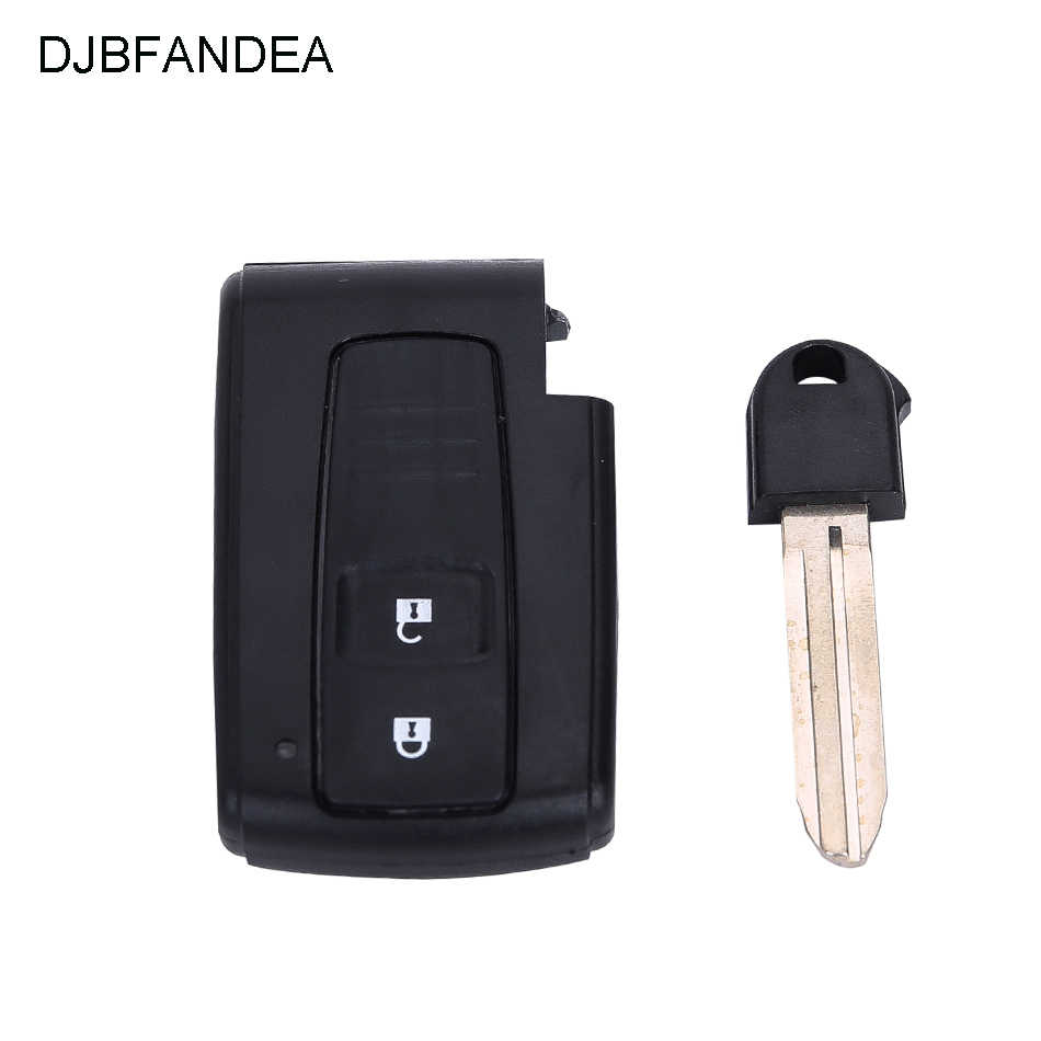 Key Covers For Toyota PRIUS 2004 2005 2006 2007 2008 2009 COROLLA VERSO Camry Smart Card Remote Car Key Shell With Blade