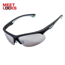 MEETLOCKS Sports Sunglasses For Men Women, PC Frame,100% UV Protection,for Cycling,Driving,Golf,Outdoor Activities