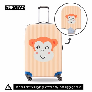 ZRENTAO luggage cover cartoon elastic dustproof personalized travel suitcase cover personalized durable cover case for female cover cover co181 03