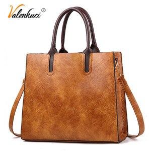 Image 1 - Знаменитые брендовые дизайнерские сумки, кожаные сумки, женские вместительные винтажные сумки с ручками, однотонные сумки тоут, женская сумка через плечо